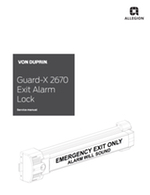 Guard-X 2670 Exit Alarm Lock & 2609 Double Door Exit Alarm Lock Parts Manual