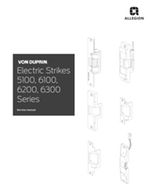 6000 Series Electrical Strikes Parts Manual