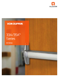 33A-35A Series Rim Exit Device