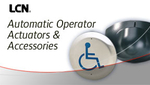 View LCN Automatic Operator Actuators & Accessories