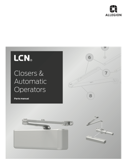 LCN Closers & Automatic Operators Parts Manual