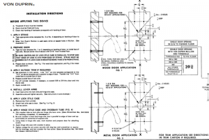 Installation Instruction Listings For Exit Devices Amp Door