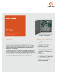 Von Duprin PS914 Power Supply