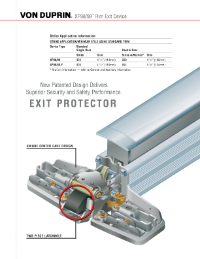 Von Duprin Exit Device Products Auxiliary Hardware Cross