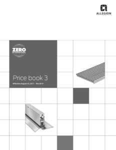 Allegion Zero Price Book