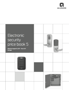 Schlage Electronic Security Price Book