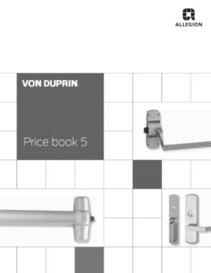 Price Books For Von Duprin Lcn Ives Glynn Johnson