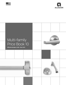 Allegion Multi-Family Price Book